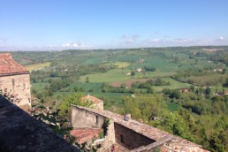View of the countryside surrounding the village of Gordes in Provence