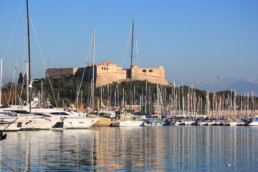 Antibes castle and port