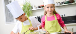 Children in a cooking party